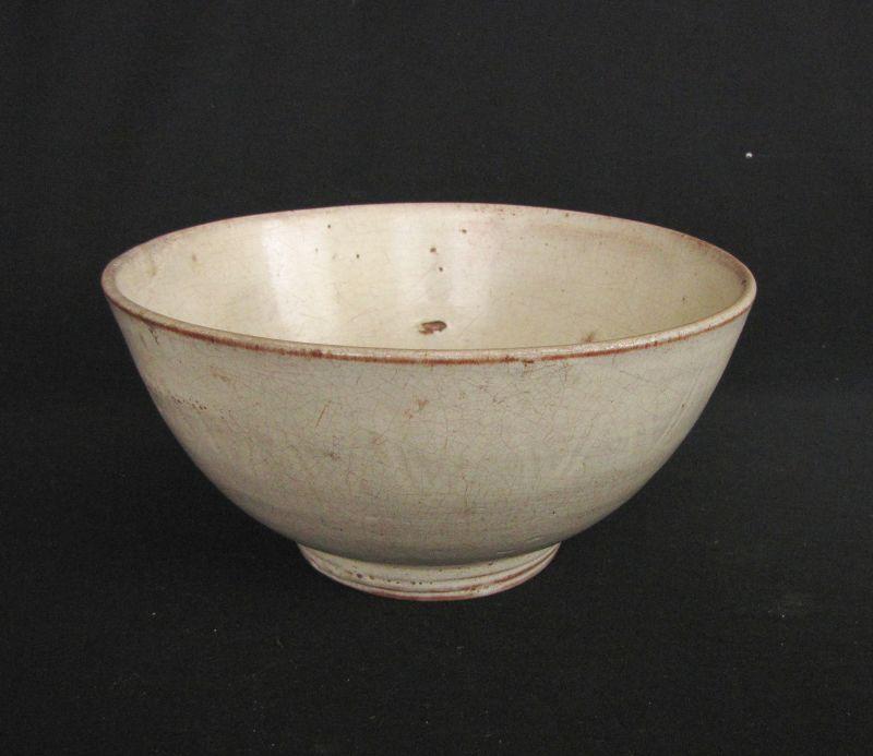 Burmese White Glazed Bowl