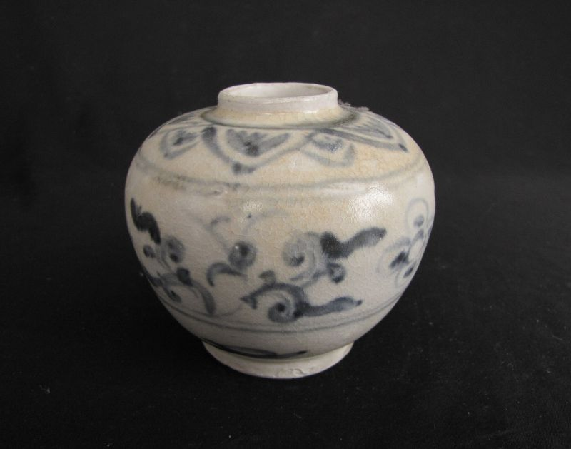 Annamese Blue and White Porcelain Jar