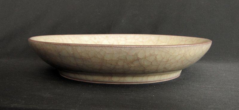 Guan Glazed Shallow Bowl �窯