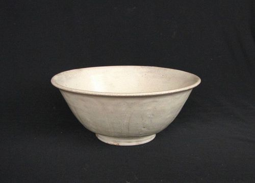 Burmese White Glazed Bowl
