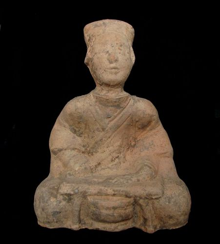 Sichuan Han Dynasty Pottery Seated Man