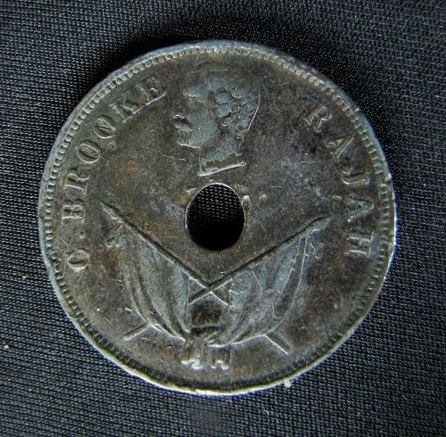 Rajah Brooks One Cent Coin