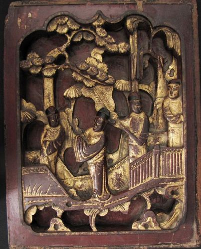 Qing Carved Wood Panel #2