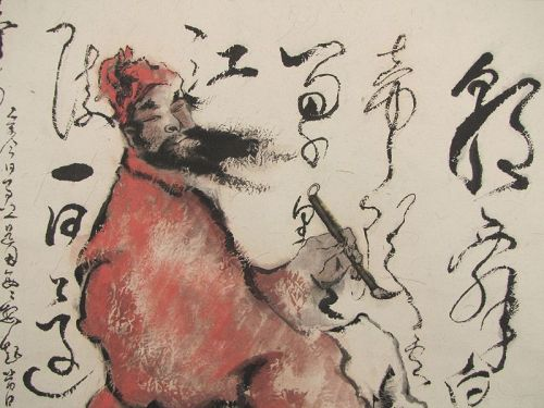 Painting signed Quelin 魁  林