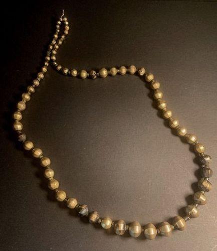 Old Sri Lanka Silver Bead Necklace