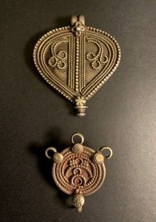 Old South Indian Silver Pendants