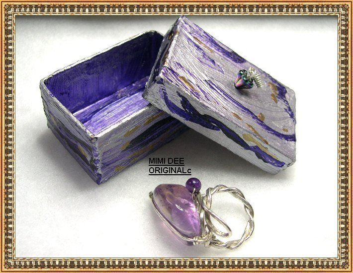 Signed Mimi Dee Sterling Silver Bold Bypass Handwrought Ring & Box