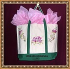 Hand Painted Canvas Tote Purse Pet Carrier Grocery Bag