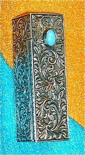 Vintage Unsgnd Peruzzi 800 Silver Ornate Lipstick Case