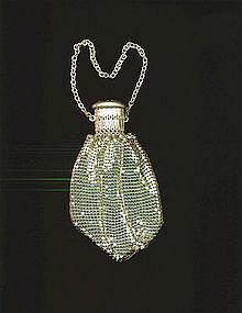 Vintage Whiting & Davis Deco 20's Flip Top Mesh Bag