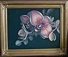 Signed Original American Oil Phalaenopsis Mom's Orchid Flower