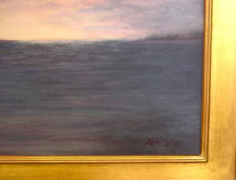 Signed Mimi Dee American Regional Oil Landscape Painting Marsh