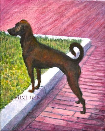 "Signed Pet Portrait Painting of a Rescue Shelter Dog ""Sophie Baby"""