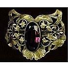 Vintage Antique Art Nouveau Sash Pin Amethyst Glass
