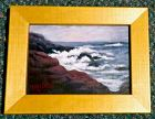 Signed Mimi Dee Original American Seascape Cape Ann Ocean Rocks
