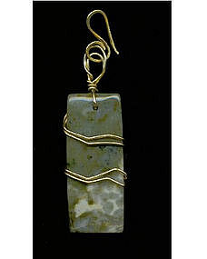 Large Rectangle Pendant Jasper