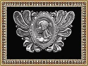 vintage 2pc Buckle Nouveau Late Victorian Cleopatra