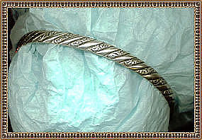 Vintage Danecraft Sterling Bangle Vintage Bracelet