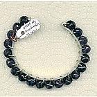 Signed Sterling Silver Cuff Bracelet Amethyst