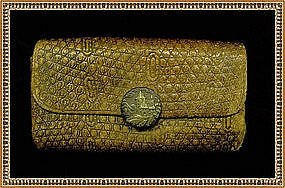Vintage Antique Victorian Wallet Purse Pat'd 1875