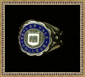 Yale Sterling Ring Blue Enamel Lux & Veritas