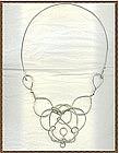 Artist Signed Sterling Silver Necklace Bib Sculpture