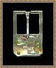 Vintage Taxco Gerardo Lopez Sterling Shell Mosaic Buckle