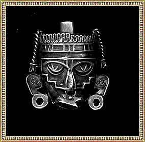 "Vintage ""Hecho en Mexico"" Ethnographic Pin Maya Mask"