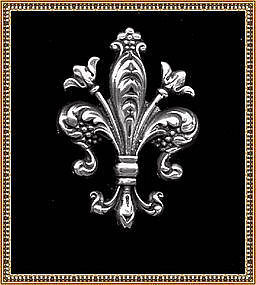 Unsigned Nouveau Fleur-de-Lis Sterling Pin