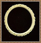 Unusual Art Deco Carved Ivory Bangle for Upper Arm