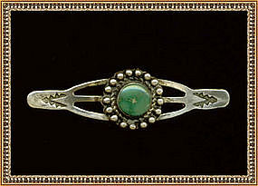 Early Native American Pin Turquoise Unsigned Unmarked