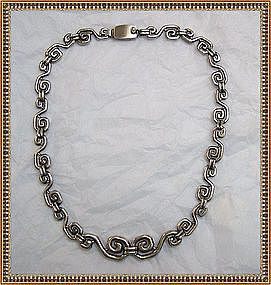 D'Molina Sterling Silver Choker Necklace Taxco Mexico