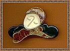 Vintage Lea Stein Pin Brooch marked Paris Mod Not New