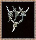 Vintage Mystery Reward Signed Sterling Pin Scandinavian Geese Mod