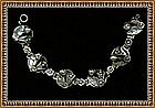 Vintage Late Arts & Crafts Sterling Bracelet 6 Foliate