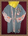 MIMI DEE 3/4 Length Slate Blue Art to Wear Jacket Coat