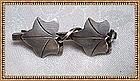 Vintage Modernist Leonore Doskow Sterling 2 Leaf Pin