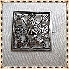 Antique Victorian 800 Silver Pin Tube Hinge Curly C Cut Work Fleur