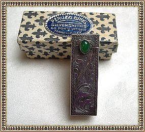 Vintage Italian 800 Silver Lipstick Case Peruzzi Bros