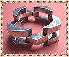 Vintage Mexico Silver Signed Bracelet Odd Pheasant Mark