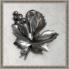 Hecho en Mexico Mexican Sterling Silver Pin Brooch 50's