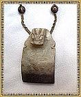 Vintage Antique 14K Arts Crafts Pendant Stone Serpent