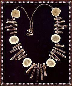 Antique Horn Bone Bib Necklace Native American Chief?