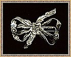 Vintage Hobe Signed Sterling Silver Bow Pin Brooch