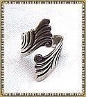 Vintage Signed Sterling Silver Wrap Ring Kachina Doll Mark