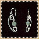 Artist Signed Sterling Silver Earrings Aquamarine