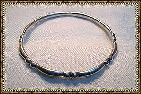 Vintage Hector Aguilar Sterling Silver Bangle Bracelet