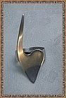 "Vintage Modernist ""ORB"" Sterling Silver Heart Ring"