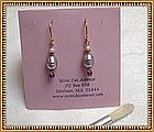 MIMI DEE 22K Vermeil Earrings Lavender Pearl Amethyst