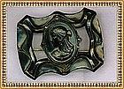 Vintage Black Jappaned Sash Pin Ornament Cleopatra